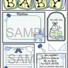 Baby Boy Bibs tb - Emailed as JPEG File-Commercial and Personal Use