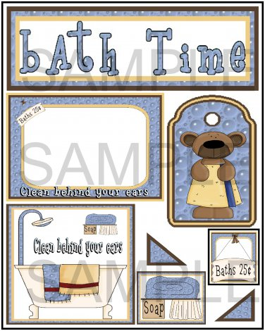 Bathtime - Emailed as JPEG File-Commercial and Personal Use