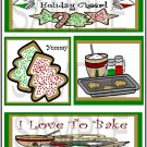 Sprinkle A Little Cheer/I Love To Bake - Emailed as JPEG File-Commercial and Personal Use