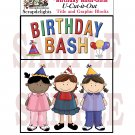 Birthday Bash Girls - Emailed as JPEG File-Commercial and Personal Use