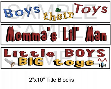 Boys Titles - Emailed as JPEG File-Commercial and Personal Use