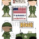 Thanks For Your Service 1  - Emailed as JPEG File-Commercial and Personal Use