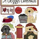 A Doggy's Christmas s - Emailed as JPEG File-Commercial and Personal Use