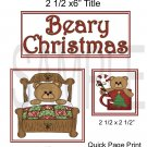 Beary Christmas qp - Emailed as JPEG File-Commercial and Personal Use