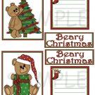 Beary Christmas Set - Emailed as JPEG File-Commercial and Personal Use