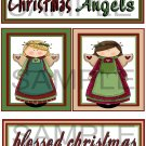 Christmas Angels/Blessed Christmas- Emailed as JPEG File-Commercial and Personal Use
