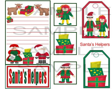 Santa's Helpers sc - Emailed as JPEG File-Commercial and Personal Use