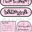 I Love To Dance/Ballerina  -  Emailed as JPEG File-Commercial and Personal Use