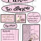 I Love To Dance s-  Emailed as JPEG File-Commercial and Personal Use