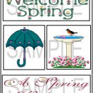 Welcome Spring/A Spring Welcome tb -  Emailed as JPEG File-Commercial and Personal Use