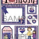 I Love Mom Girl s -  Emailed as JPEG File-Commercial and Personal Use