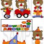 Clowning Around Bears 1 s -  Emailed as JPEG File-Commercial and Personal Use