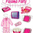 Pajama Party s -  Emailed as JPEG File-Commercial and Personal Use