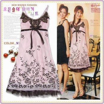 Chiffon Embroidery Dress