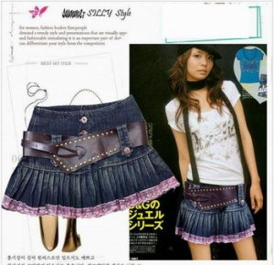 Stylo Denim Mini Skirt
