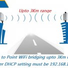 WiFi Bridge Pair * Long Range WIFI Repeater Antenna Coverage upto 3Km wide range