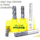 End Mill Tool Set 4 Flute Carbide Endmill CNC Parts - HRC55 mills 2pcs: 14~16mm