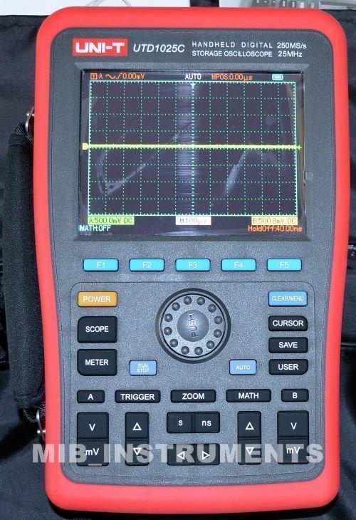 New UNI-T Handheld Digital Oscilloscopes 25MHz UTD1025C