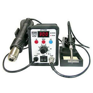 AT8586 Hot Air Gun 2IN1 REWORK STATION Soldering Desoldering Iron WorkStation
