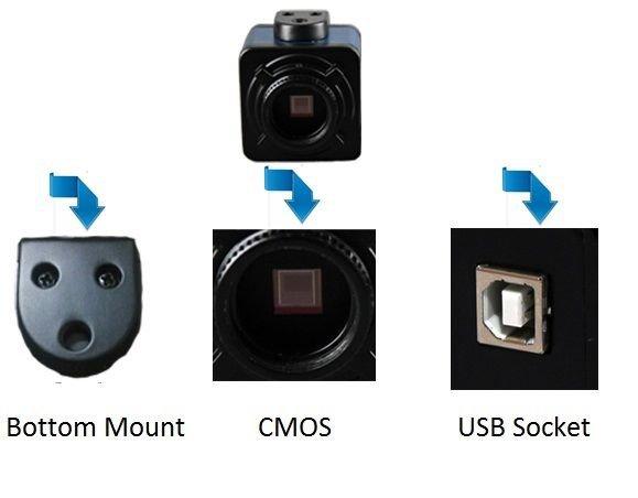 KE-310B 3M Pixel Industrial Cam Camera 1/2 inch CMOS Sensor, USB 2.0 Interface
