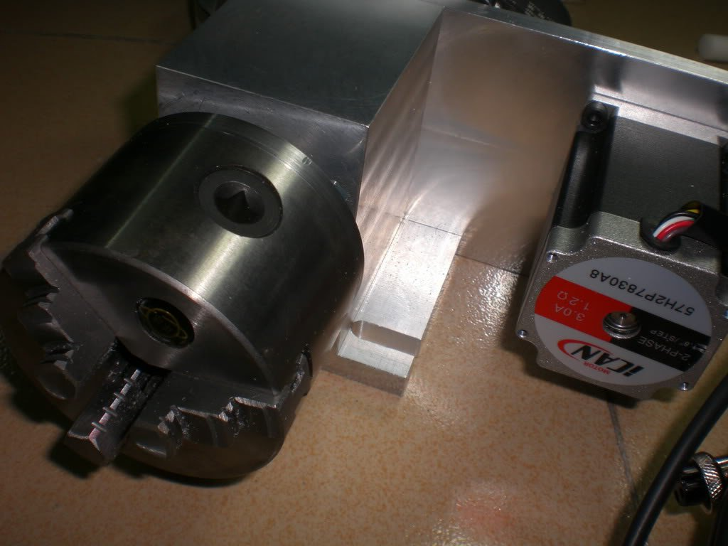 CNC Router Machine Accessory 4th-Axis Rotary Chunk Rotational + Tailstock