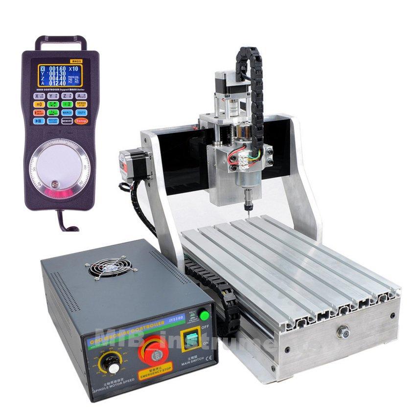 FULLSET 4 Axes 300W CNC Engraver Machine Router CNC3020 + mpg remote +tailstock