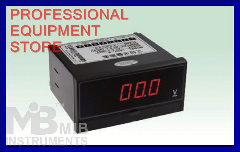 New 3 1/2 AC200V Digital Voltmeter Panel Meter