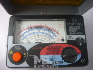 Kyoritsu insulation tester fuse protected Japan 3132A