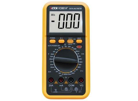 DMM VICTOR VC9801A Digital Multimeter Electrical Meter