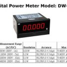 Lab Grade Accurate AC / DC Panel Digital Power Meter DW83 200W 0.01W Resolution