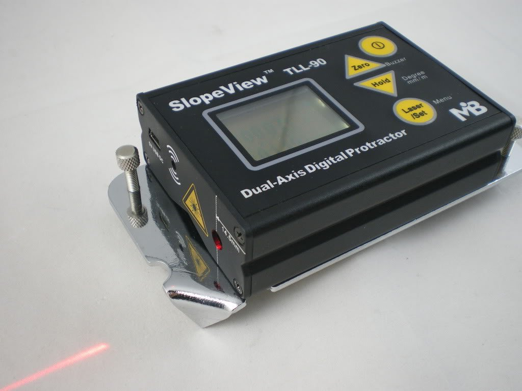90S Digital Dual Protractor Bevel Box Inclinometer Laser Angle Level +BT Adapter