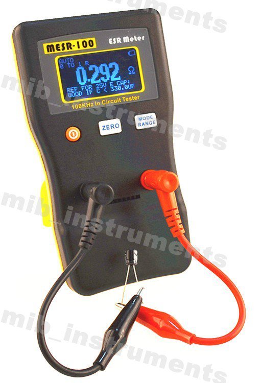 MESR-100 AutoRange InCircuit Test ESR Capacitor Low Ohm Meter 0.001~100R youtube