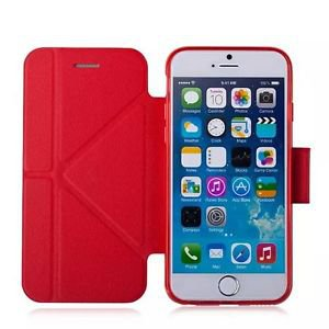 """Iphone 6+ 6plus 5.5"""" Slim Leather Case Protection Cover Magnet Filp Fold Stand"""