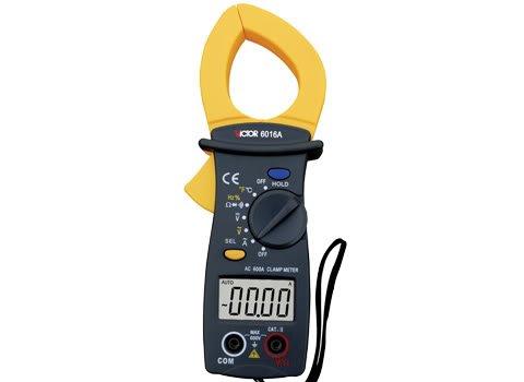 6016A 3 3/4 AC 600A Digital Clamp Meter Multimeter Tool w/ Temperature Sensor