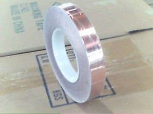 10mm x 30Meter Copper Foil Adhesive Tape EMI / RF / Insulation Shielding