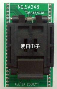 IC MCU Programmer Tool QFP48 TO DIP48 QFP to DIP Adapter Socket SA248 XELTEK Kit