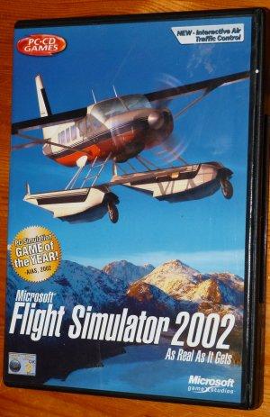 MICROSOFT FLIGHT SIMULATOR 2002 AS REAL AS IT GETS   PC