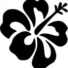 Hibiscus Flower Vinyl Decal