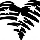 Patriotic Vinyl Heart Decal (2)