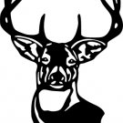Deer Head Vinyl Decal