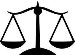 Justice Scales Vinyl Decals (2)