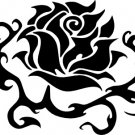 Tribal Rose (No Stem) Vinyl Decal