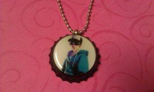 Justin Bieber bottle cap necklace
