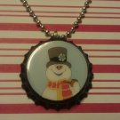 Frosty the Snowman Bottle Cap Necklace