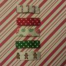 Set of 5 Christmas Holiday Snap Hair Clips