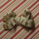 Gingerbread Man Hair Bow