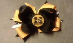 Mizzou Tigers Boutique Hair Bow