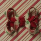 Holiday Mints Christmas Hair Bow