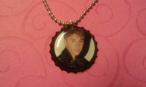 Justin Bieber Bottle Cap Necklace, Christmas Album