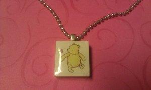 Classic Winnie the Pooh Scrabble Tile Necklace